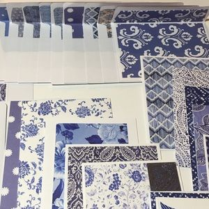 Handcrafted Chinoiserie Blue Theme Card Set